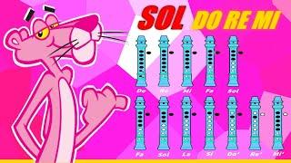 """getlinkyoutube.com-La Pantera Rosa en Flauta """"Con Notas Explicadas"""" (Mejorada)"""