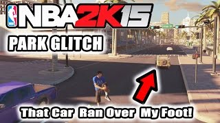getlinkyoutube.com-NBA 2K15 Park Glitch! Ran Over By A Car! Exploring The Environment!