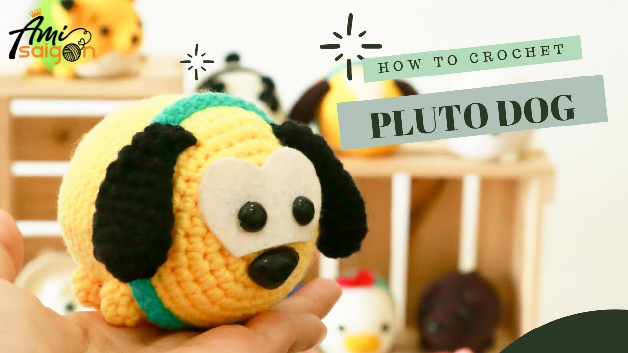 FREE Pattern – How to crochet a Pluto dog Tsum Tsum amigurumi