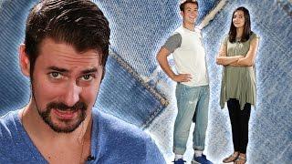 getlinkyoutube.com-Boyfriends Wear Women's Boyfriend Jeans