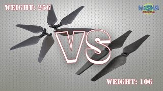 Test: Carbon VS 3-Blade Folding Propeller for Phantom 2