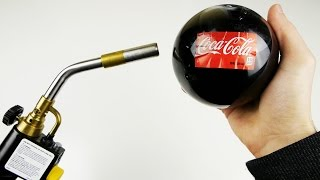 getlinkyoutube.com-Popping Glass Coca-Cola Ball with Gas Torch - What Will Happen?
