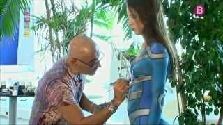 getlinkyoutube.com-Nazel, artista de bodypainting a Eivissa