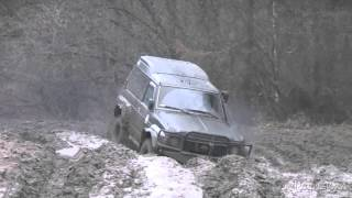 getlinkyoutube.com-Biedrusko Nissan Patrol Y60 4x4 off-road Poznań team