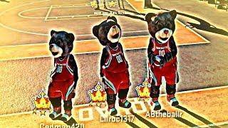 getlinkyoutube.com-NBA 2K15 MyPark PS4 - Family Of Bears Take On The Park! Mascot Gameplay!