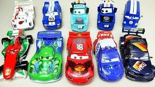 getlinkyoutube.com-Cars Disney Cars Lightning McQueen Neon Light-up 6 sets 4 Master Custom Die-cast toys