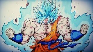 getlinkyoutube.com-Drawing Goku Ascended Super Saiyan Blue | VS Yair Sasson Art / DibujAme Un / MulaDraws