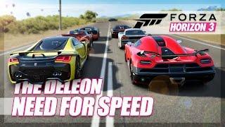 Forza Horizon 3 - Need For Speed DeLeon Recreation! (Build & Race)