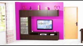 getlinkyoutube.com-como hacer un mueble para la sala de estar