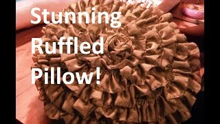 getlinkyoutube.com-DIY Ruffle Rosette Pillow - Freestyle Friday #23