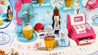 getlinkyoutube.com-Ice Cream Factory / Lodziarnia - Disney Frozen - Smoby - MegaDyskont.pl