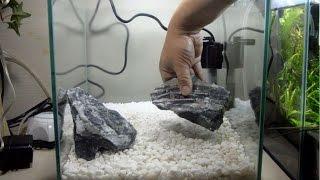 getlinkyoutube.com-水槽立ち上げ!底面式濾材層と底石遠近法 日本庭園風レイアウト 【金魚水槽】