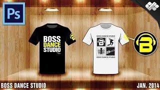 getlinkyoutube.com-Photoshop : Boss Dance Studio T-Shirt Design ออกแบบลายเสื้อ