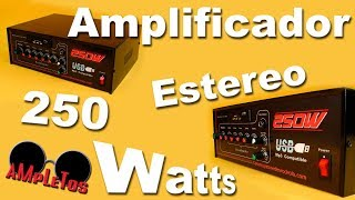 getlinkyoutube.com-Amplificador estéreo de 250 watts
