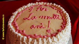 getlinkyoutube.com-Tort cu crema de lamaie - 1 An de Farfuria vesela