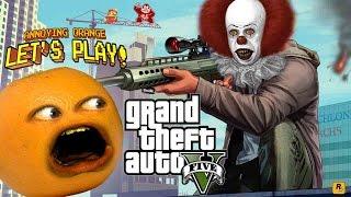 getlinkyoutube.com-Annoying Orange Plays - GTA V: Clowning Around!