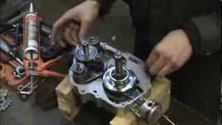 getlinkyoutube.com-Chinese dirt bike gearbox assembly