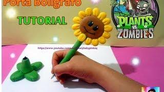 getlinkyoutube.com-Boligrafo Decorado Plants Vs Zombies porcelana fria TUTORIAL FACIL!!