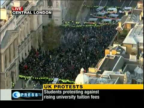 [Part2] Second mass Student Protest turns violent in London [Nov 24, 2010]