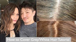 getlinkyoutube.com-How to Cover Grey/White Hair Tutorial