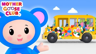 getlinkyoutube.com-Baby Drives in Paint | Wheels on the Bus Color Song | Mother Goose Club Kid Songs and Baby Songs