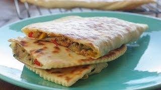 getlinkyoutube.com-Recette des crêpes turques / turkish savory pancakes recipe /    وصفة الفطائر التركية باللحم