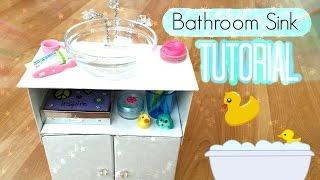 getlinkyoutube.com-How To Make An American Girl Doll Bathroom Sink!