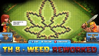 getlinkyoutube.com-★ Clash of Clans Troll Base ★ TH8 - Weed Defense, Hybrid