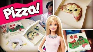 Como fazer Pizza para Barbie e outras bonecas