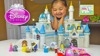 getlinkyoutube.com-HUGE DISNEY PRINCESS CINDERELLA'S CASTLE TOY Kinder Surprise Egg Disney Princess Surprise Egg Aurora