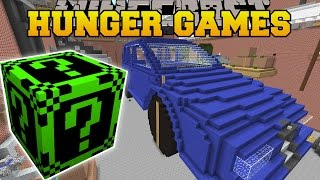 getlinkyoutube.com-Minecraft: GARAGE HUNGER GAMES - Lucky Block Mod - Modded Mini-Game