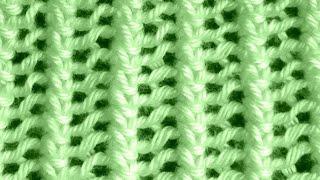 getlinkyoutube.com-Como Tejer Punto Encaje Francés-French Lace Knitting 2 Agujas(108)