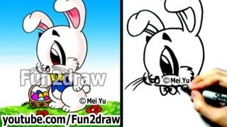 getlinkyoutube.com-How to Draw a Bunny, Easter Bunny - Drawing Lessons - Learn to Draw - Fun2draw