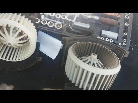Замена моторчика печки audi Q7/ODIS измеряемые величины CCFA 4.2 л. TDI