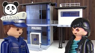 getlinkyoutube.com-PLAYMOBIL  Police Station 🚔  Let's unbox and play! - Pandido Toys