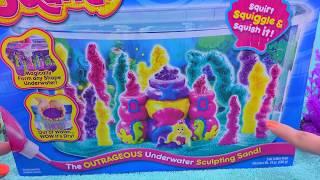 getlinkyoutube.com-Waterproof Sand - Sqand Mermaid Castle Tank Maker Playset - Cookieswirlc Water Play Video