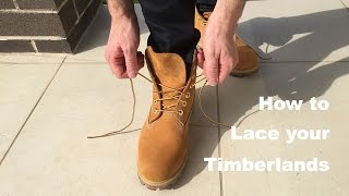 getlinkyoutube.com-How to lace your Timberlands