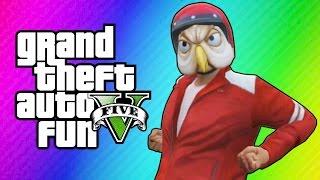 getlinkyoutube.com-GTA 5 Online Funny Moments - Golf Cart Chase, Motorcycle Stunt Noobs, Miniladd Denied