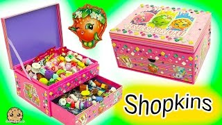 getlinkyoutube.com-Surprise Blind Bags + Season 6 Chef Club Shopkins - Make Your Own Jewelry Box