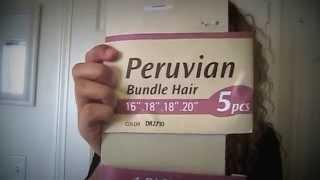 """Miss. Yoncé"" Outre Synthetic Weaving Peruvian Bundle Hair Show & Tell, Review!"