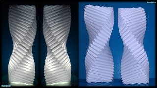 getlinkyoutube.com-Tutorial 15 - Twisted Column Paper Lamp Fold
