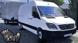 getlinkyoutube.com-Euro Truck Simulator 2 - Mod Van - Mercedes Benz Sprinter - Vida de motorista! - Com Logitech G27