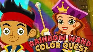 getlinkyoutube.com-Jake And The Neverland Pirates Full Game Episodes Rainbow Wand Color Quest