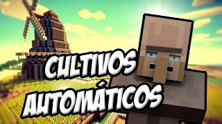 getlinkyoutube.com-Como Hacer Una Granja De Cultivos Automaticos Con Aldeanos Tutorial | Minecraft