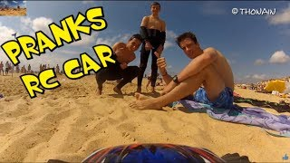 getlinkyoutube.com-BEACH & RC CAR - VIDEO GAG FPV - TRAXXAS  + GOPRO