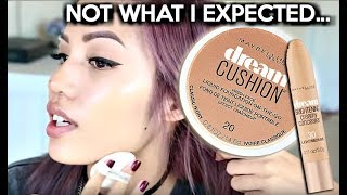 getlinkyoutube.com-BRAND NEW | MAYBELLINE DREAM CUSHION FOUNDATION & DREAM BRIGHTENING CONCEALER REVIEW