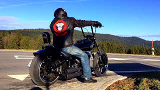 getlinkyoutube.com-Harley Davidson Softail FXSB Breakout Ride with Ape Hanger