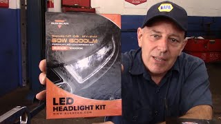 getlinkyoutube.com-Auxbeam LED Headlight Conversion Kit Review