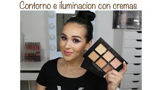 getlinkyoutube.com-Contorno e iluminacion de rostro (Kit de cremas de contorno de anastasia)
