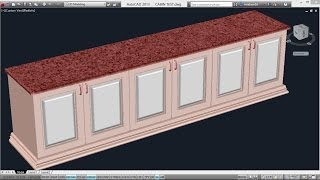 getlinkyoutube.com-CREATING A COUNTER TOP | AutoCAD 3D CABINETS | AutoCAD 3D WARDROBE